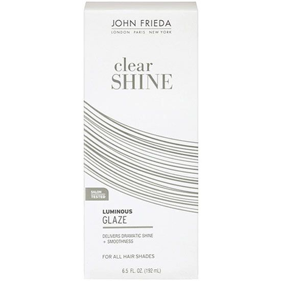 A clear gloss will add luster to grey hair, which can sometimes look and feel brittle. Every other week, after you've shampooed, saturate your hair with a gloss, let it sit for five minutes, then rinse. Try John Frieda Luminous Colour Glaze Clear Shine, $10. - bhg.com