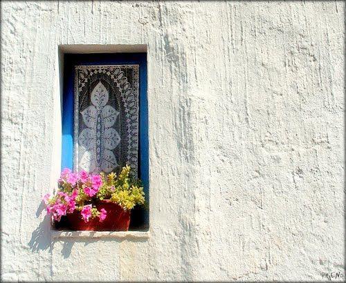 Blue window at San Vito Lo Capo, near Trapani.