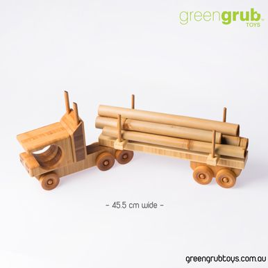 LARGE WOODEN SEMI TOY TRUCK