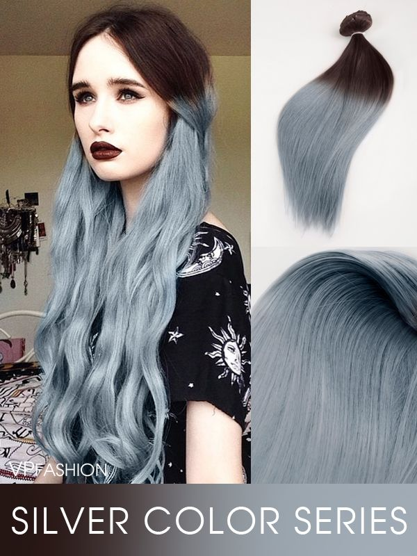 14 Best Silver Grey Blue Hair Images On Pinterest Coloured Hair