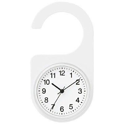 Muji Bath Clock Splash proof CLOCK that can be hung on the bathroom door or  a hanger  Power  Uses 1 button battery  LR44   supplied   Step second. Muji Bath Clock Splash proof CLOCK that can be hung on the