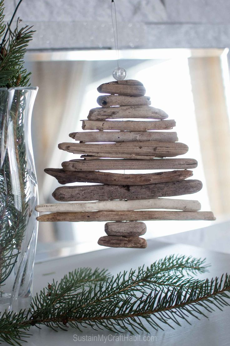 17 best ideas about driftwood christmas tree on pinterest for Hanging driftwood christmas tree