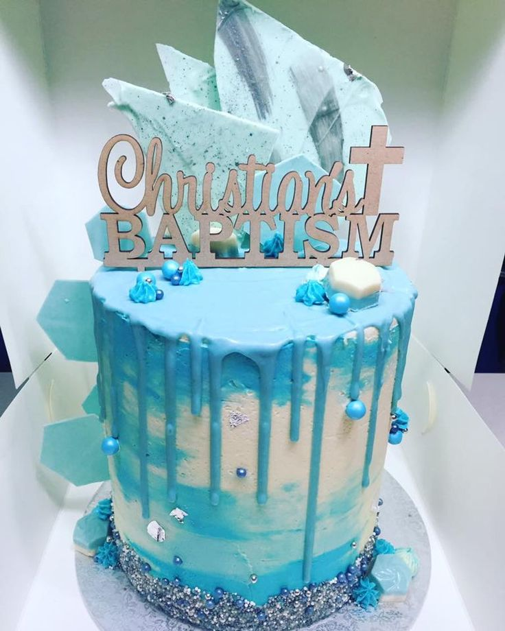 Christening Drip Cake On Cake Central Awesome Cakes