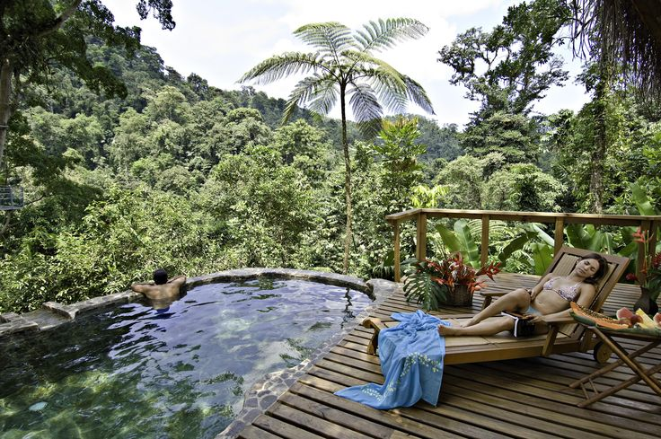 Your private pool in the middle of the jungle in Costa Rica.