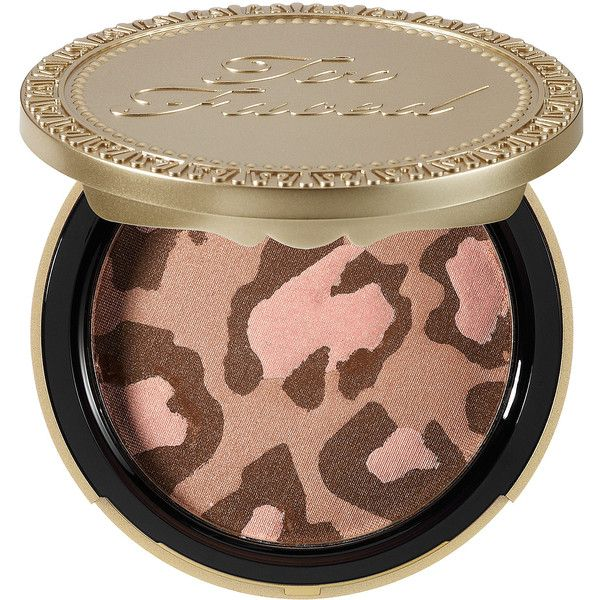 Too Faced Pink Leopard Blushing Bronzer found on Polyvore featuring beauty products, makeup, cheek makeup, cheek bronzer, beauty, bronzer, cosmetics, blush and too faced cosmetics