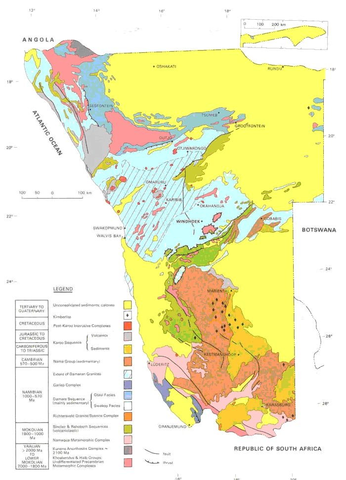 74 best interpreted geology images on pinterest earth science geological map of namibia fandeluxe Image collections