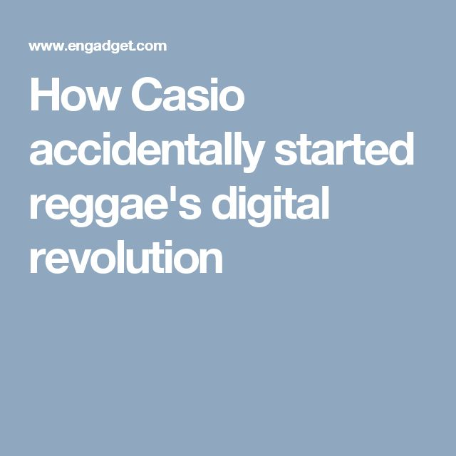 How Casio accidentally started reggae's digital revolution