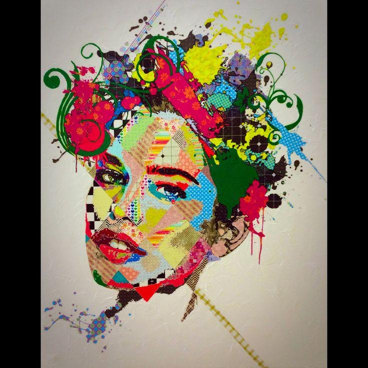 "Pınar Du Pre ""Lauren"" 170x135cm/mixed media on canvas/2015"