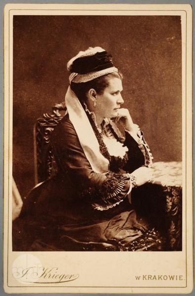 portret kobiety ok 1860 r.