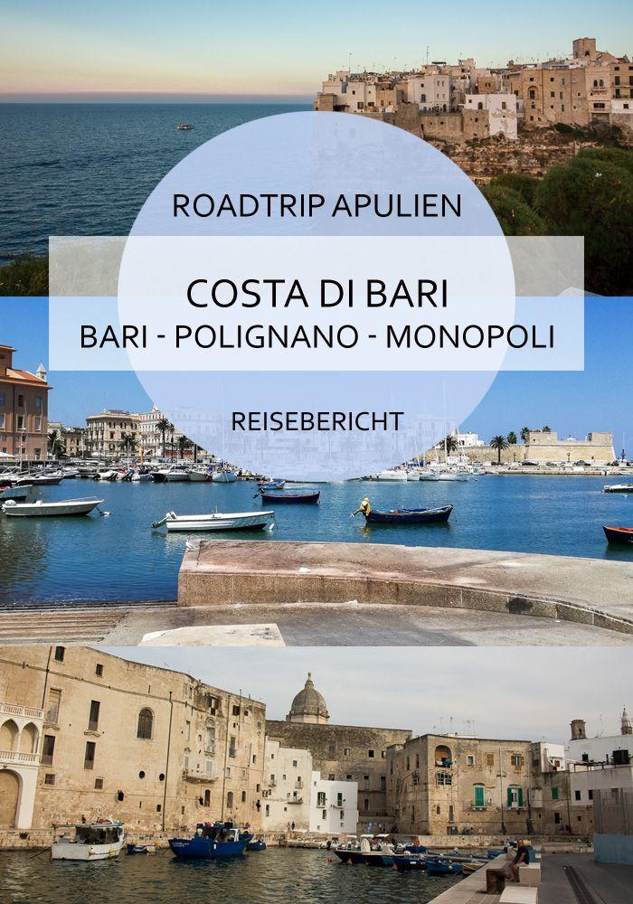 An der Costa di Bari in Apulien gibt es einige zauberhafte Städte, die man sich anschauen sollte #bari #costadibari #apulien #puglia #polignano #monopoli #italien #sommer #roadtrip #meer #adria #strand #urlaub #reisen #reiseblog #bericht