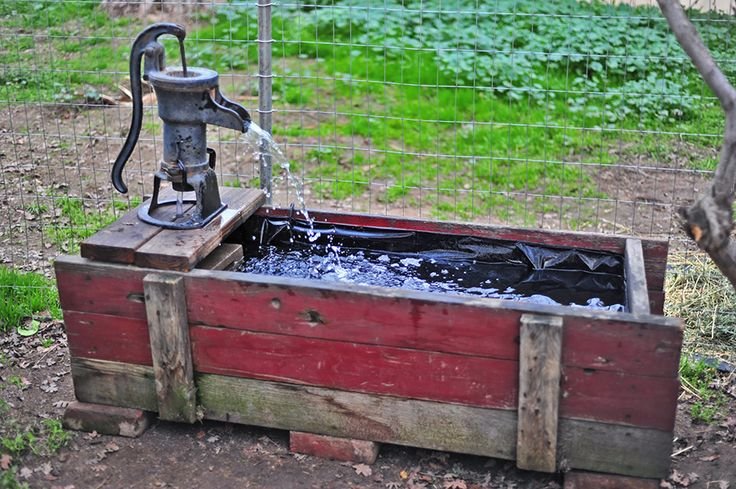 Making a Trough Fountain from an Antique Water Pump