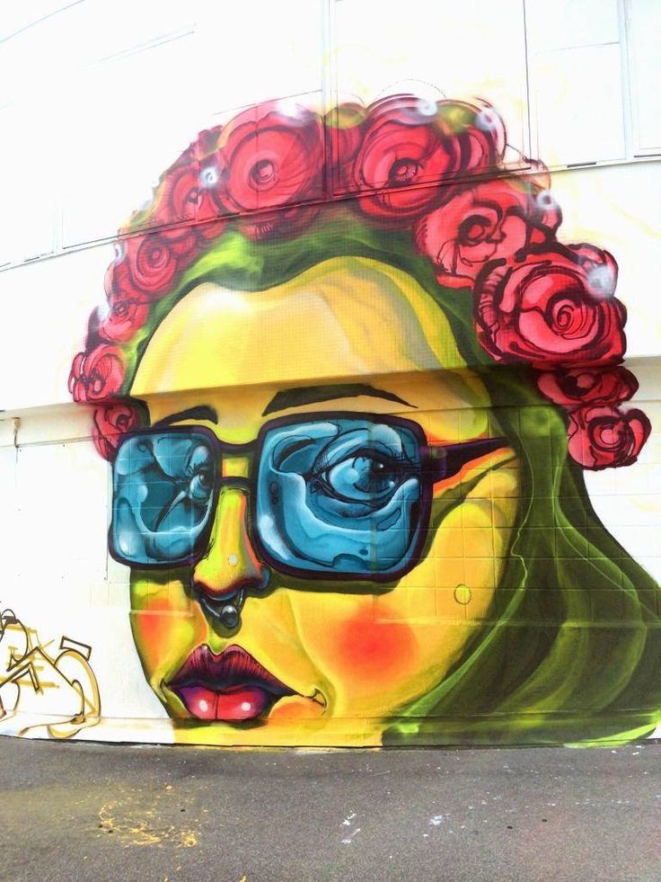 Ruhani/Gouge - street art on the walls of Kolingsborg in the center of Stockholm, Sweden