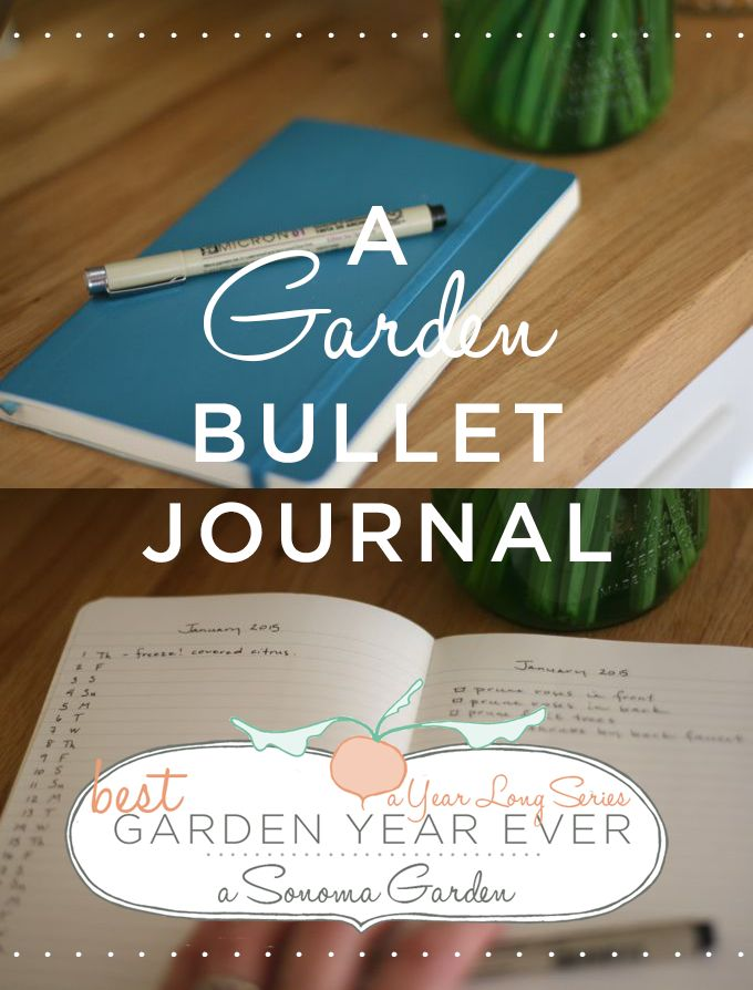 Gardening Bullet Journal - Join us for a year long series on how to have the best gardening year yet. Start by setting up a brand new garden bullet journal.
