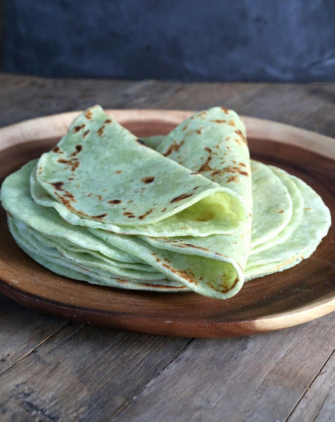 Made with pureed fresh zucchini in place of water, these soft, flexible gluten…
