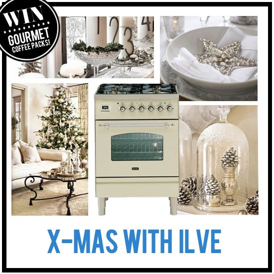 This week we are loving neutral decorating for the festive season – Christmas with a fresh twist!  For your chance to win an ILVE Coffee Machine plus gourmet coffee pack, show us your idea of celebrating the festive season in style in the Xmas with ILVE Pinterest Competition. More information on the 'Xmas with ILVE Competition' board.  Winner announced on 23rd December 2013.