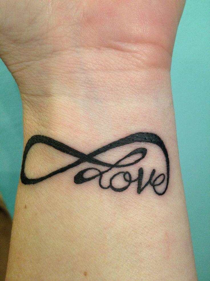 Eternal Love Tattoo On The Wrist