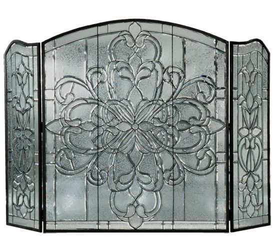 STAINED GLASS ~ FirePlace Screens, Windows, Lighting, Lamps, Light Covers, Fire Screens, TIFFANY STAINED GLASS Fireplace Screens - Home Design with Colorful Stained Glass
