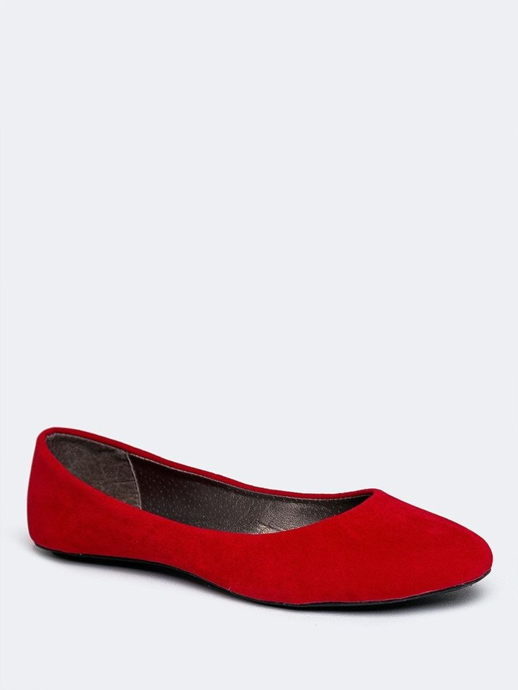 Simple red flats to give you a pop of color ~ BALLET-144 FLAT | ZOOSHOO