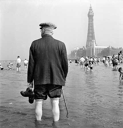 Blackpool, 1949  by John Gay (1909-1999); born Hans Göhler in Germany, he lived/worked in London, his love of architecture, nature and the countryside are reflected in his work