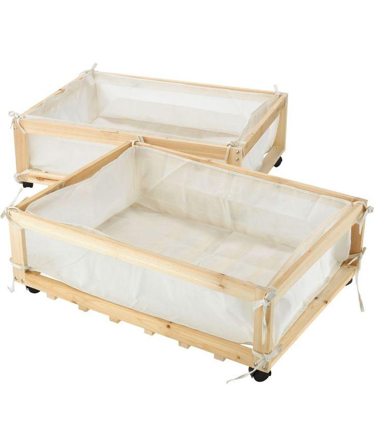 Buy Fabric Amp Wood Underbed Storage Drawers On Castors