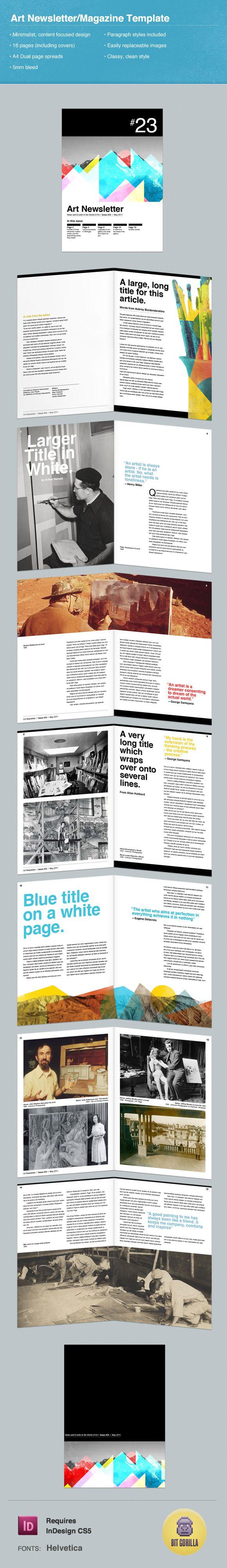 Art Themed Newsletter/Magazine Template
