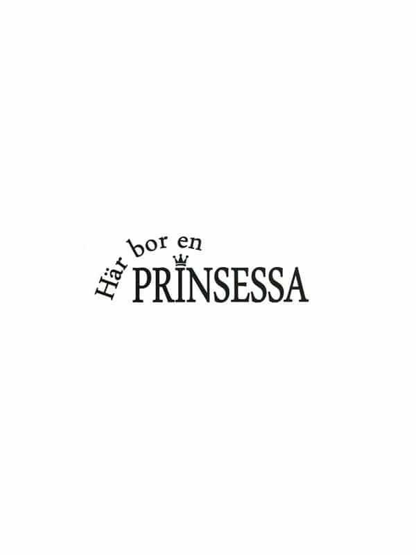 Väggtext - Här bor en prinsessa, passande till barnrummet.