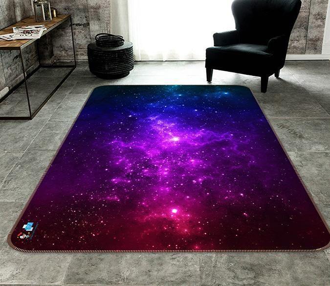3d Purple Starry Sky 669 Non Slip Rug Mat Aj Wallpaper Mat