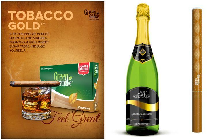 Tobacco Gold și Spumant Muscat   http://www.greensmoke.ro/