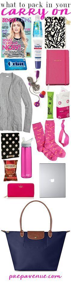 Carry On Essentials  | www.prepavenue.com  #preppy #prep