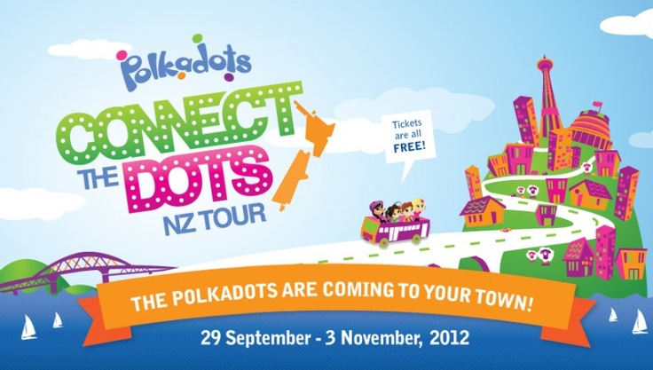 The POLKADOTS are going on an NZ tour and EVERYONE comes for FREE!!!  Pin now and spread the word!!!