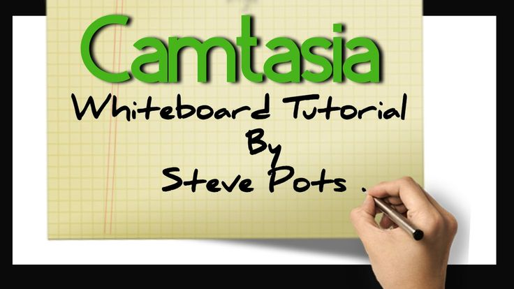 Camtasia has a lot of uses but it was really intended to be uses for screen capture videos. At least that's the way I see it. I wanted to make whiteboard vid...