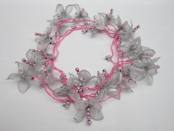 Crochet necklaceCrochet beadwork oya necklacecrochet by scarfnurlu