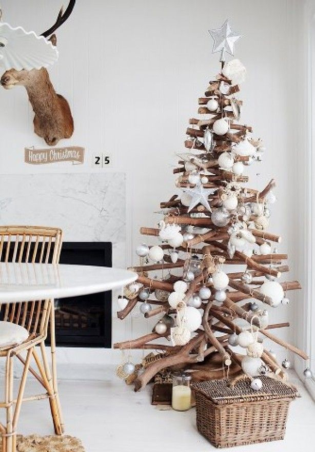 Kerstboom van houtjes