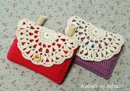ドイリーみたいな 移動ポケットの作り方 編み物 編み物・手芸・ソーイング   アトリエ 手芸レシピ16,000件!みんなで作る手芸やハンドメイド作品、雑貨の作り方ポータル