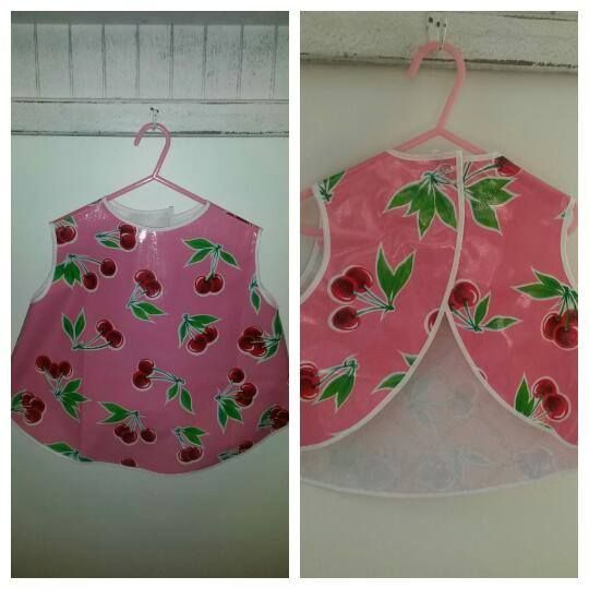 Handmade by @sweetcheeks Girl's wipe able and wash able art smock. For more information, please visit https://www.facebook.com/HandmadeMarkets