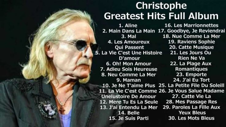 Christophe - Greatest hits full album |  Best songs of Christophe