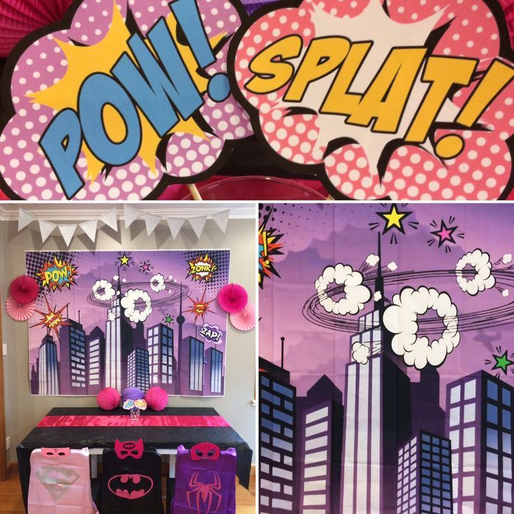 Girls Superhero Party Box from @thepartyboxcompanynz POW! #thepartyboxcompanynz #boxesofawesome #superhero #girlsuperhero #girlsuperheroparty #superheroparty