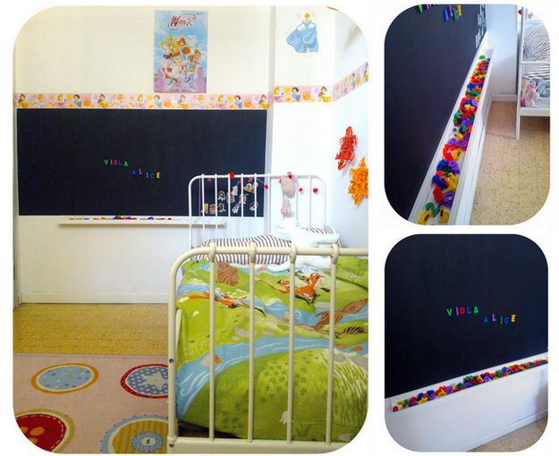 The Ribba ledge works well under a chalkboard. | 37 Clever Ways To Organize Your Entire Life With Ikea