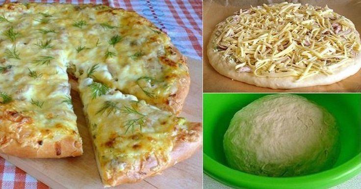 Gyors Házi Pizza – Élesztő nélküli vékony, ropogós tésztából