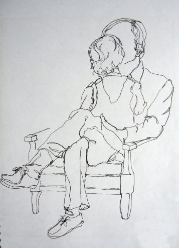 continouslinefatherdaughter-- excellent drawing lessons and example!