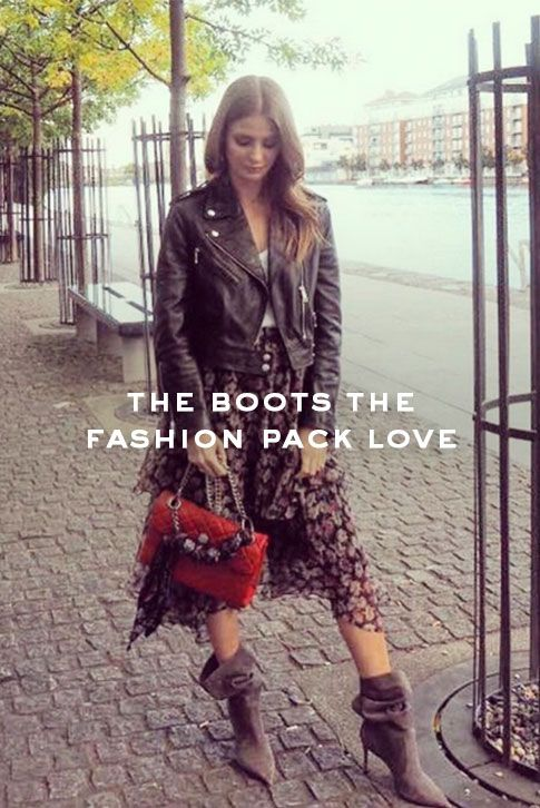 The Boots the Fashion Pack are crazy about!  If you've been doing your AW17 boot research ahead, you'll be well aware that the slouch is the hottest new shape of the season. Sitting mid-calf – and thus ticking off another big trend – Carvela Kurt Geiger's 'Scrunch' was the go-to boot for Laura Fantacci (aka @WITblog) and Anna Vitiello, one half of blogging duo And Finally during London Fashion Week
