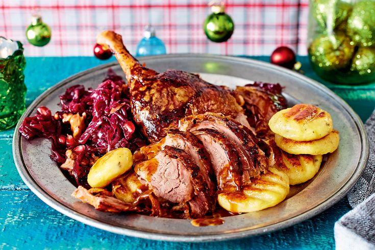 """So geht """"Wünsche erfüllen"""": krosse Kruste, zartes Fleisch, würzige Teriyakisoße– und fast alles erledigt der Ofen. Frohes Festmahl!"""