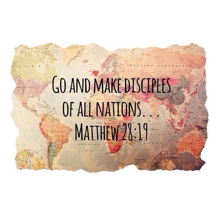 The Great Commission! Go. Missions.