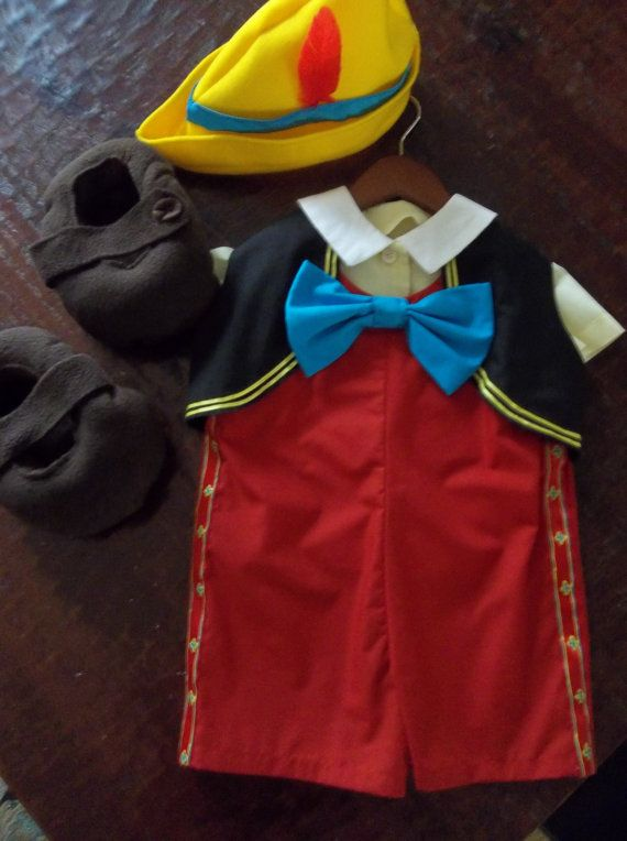 LOVE THIS! Disney inspired Pinocchio costume halloween size 3 boys pageant dress up disneyland