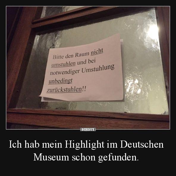 Ich hab mein Highlight im Deutschen Museum schon gefunden. | Lustige Bilder, Sprüche, Witze, echt lustig