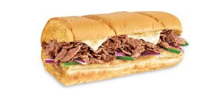 Subway. Steak sandwich on Italian bread. A few other breads are also approved. A few cheeses are approved - American, cheddar, swiss, etc.