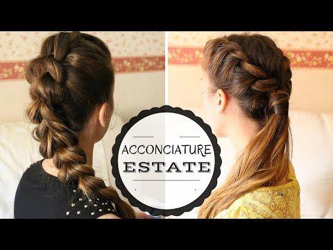 (7) Acconciature Capelli Lunghi facili e veloci| hairstyle tutorial | - YouTube