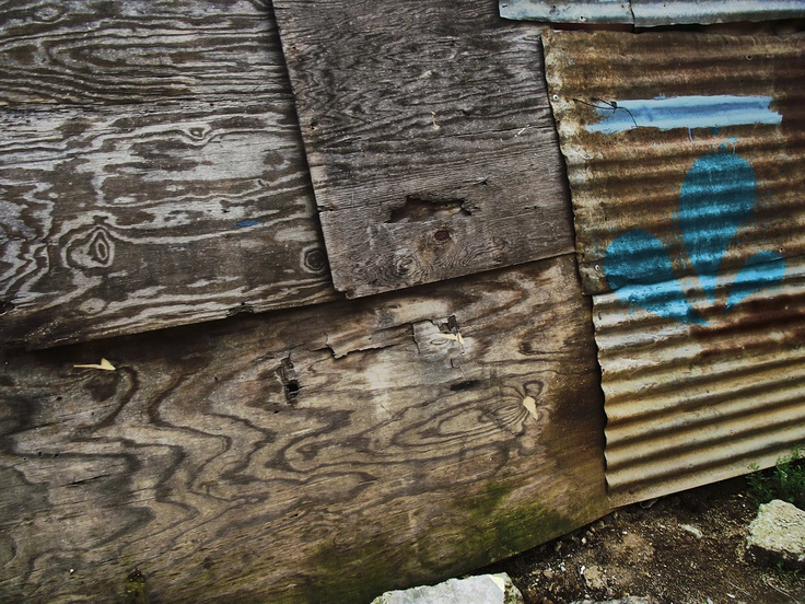 Rusted Corrugated Tin Sheeting and Wood