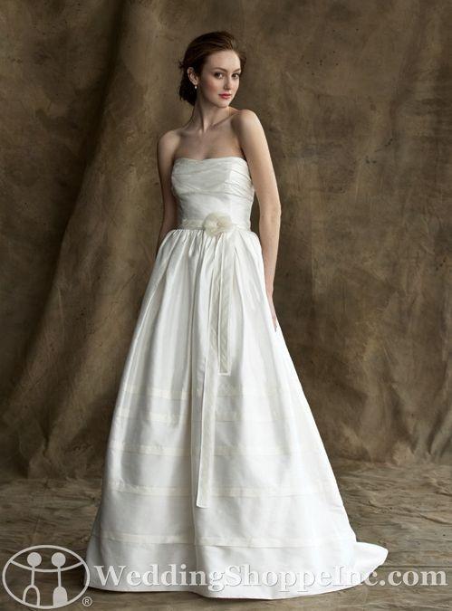 Alyne by rivini alex silk dupioni 1938 wedding for Silk shantung wedding dress
