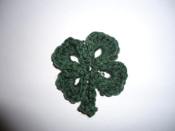 Crochet shamrock pin